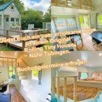 Neu Besichtigung und Buchung. Einblick in ein original rolling Tiny House