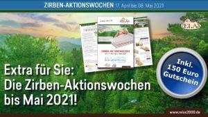 Frühlingsstart mit den ZIRBEN-AKTIONSWOCHEN vom 17.04. bis 08.05.2021, Relax2000