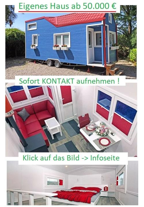 Rolling Tinyhouse, Eigenheim ab 50.000 Euro, Freiheit genießen. Ein modernes Leben in den eigenen vier Wänden im Tiny House.