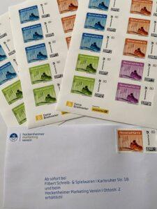 Hockenheim, Formel-1 Rennstadt, Die Rennstadtkarte jetzt auch als Briefmarke Foto1 HMV, Matthias Filbert, Schreib- und Spielwaren