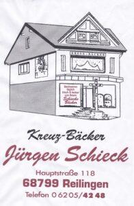 Bäckerei Reilingen, Bäckermeister, Kreuzbäcker, Schieck, Reilingen, Handgemachte Bäckereiprodukte
