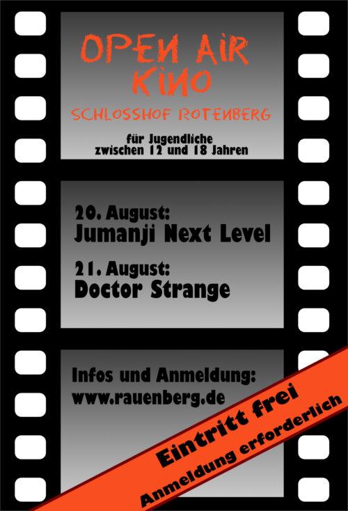 Rauenberg, Open Air-Jugendkino im Schlosshof für Jugendliche aus RaRoMa zwischen 12 und 18