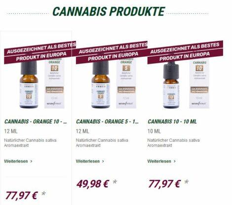 Naturavitalis, CANNABIS, Hanfaroma-Extrakt, Orange, ein Aroma-Klassiker