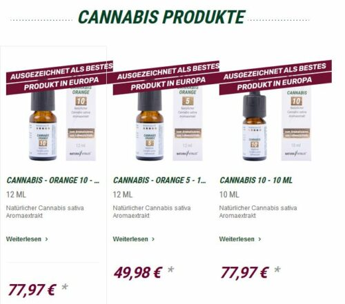 Cannabis Produkte, Naturavitalis