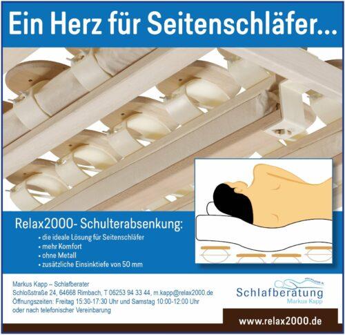 Relax2000, Markus Kapp, Schlafberatung, Bettensysteme, ein Herz für Seitenschläfer